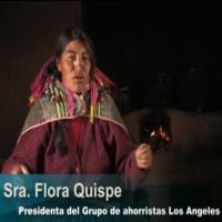 Flora Quispe, Presidenta del grupo de ahorristas los Angeles