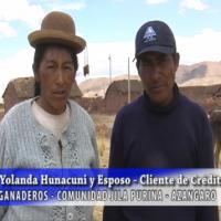Yolanda Huanacuni y esposo, Ganaderos comunidad Jila Purina